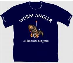T-Shirt Wurmangler angelsport angeln angel tshirt shirt personalisiert blei