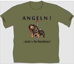 T-Shirt Angeln wurm wurmangler angelshirt personalisiert übergröße bedruckt
