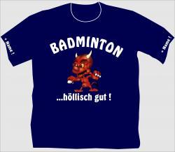 T-Shirt Badminton Federball Tennis tennisschläger tennisnetz shirt tshirt em wm