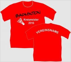 T-Shirt Badminton Federball Tennis shirt tshirt spielball badmintonsportverein