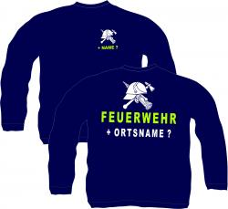 Sweatshirt Feuerwehr 112 pullover Retten bergen Löschen Fire feuerwehr
