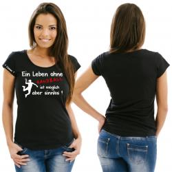 Handball Damenshirt, Schulsport, WM, EM, Meisterschaft, Ballsport, Verein