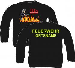 Sweatshirt Feuerwehr Firefighter Sweat-Shirt Sweat-Jacke rescue wappen bedruckt