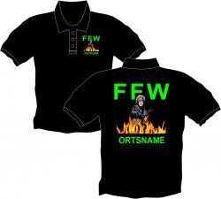 Polo-Shirt Feuerwehr Bekleidung Wandhydrant Wehr-und Dienstpflicht Zivilschutz