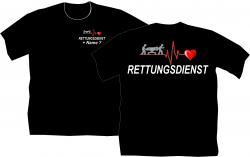 Sanitäter T-Shirt Rettungsdienst Ersthelfer 1.Hilfe Arbeitsbekleidung Dienst