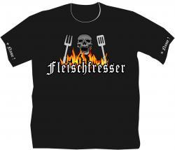 Grillshirt mit lustigem Spruch Grillmeister Griller Männershirt BBQ Shirt